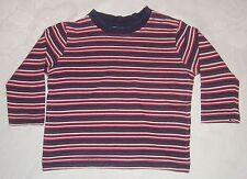 Baby Jungen T-Shirt Langarm IMPIDIMPI Gr. 74/80 blau/weiß/rot gestreift