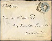 1892 QV 2½d stationery envelope to Belgium TS434