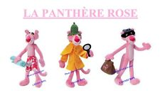 Lot 3 peluches La PANTHERE ROSE jemini 24cm prize of PINK PANTHER plush figures