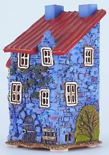 Ceramic house tea light holder 'House from Harbor Blues Street', 13 cm, © Midene