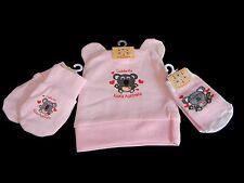 Australian Souvenir Australia Koala Hat Beanie Mitten Sock Pink Baby Girl Set