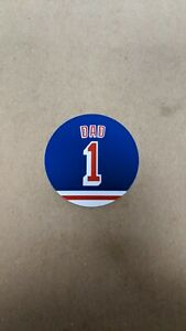 New York Rangers Dad Magnet - 4 Inch - #1 Dad - Father's Day Fridge Magnet