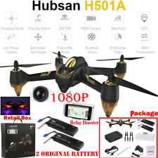 Hubsan H501A WIFI FPV Brushless W/ 1080P Camera GPS RC Quadcopter RTF+ 2 Battery
