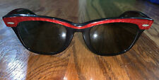 Vintage Red Rayban Wayfarer Sunglasses