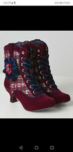 Joe Browns couture Angelica, Size 8 Boots steam punk Victorian style 6cm heel