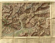 Carte de France au 50.000e - ORCIERES -Serv. géographique de l'Armée -Type 1922