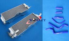For Honda CR500R CR500 CR 500 R 1989 89 aluminum radiator & silicone hose BLUE