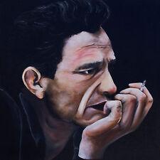 """Man In Black"" young Johnny Cash 12x12"" art print on 80lb paper"