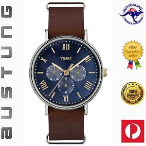 Timex Southview 41mm Multifunction Genuine Leather Strap Watch TW2R81900