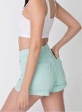 American Apparel Denim High Waist Pale Pine Mint Shorts Size 27 NWT
