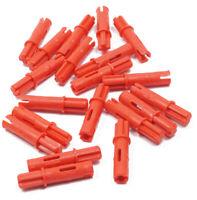 11214 NEUWARE LEGO Technik 10 x Achs Pin rot 3 Noppen mit Achse 1L