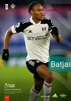 Fulham v Southampton (Scored 0:0) PREMIER LEAGUE 2020/21 Programme 26/12/2020
