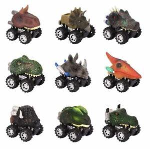 9 Piece Dinosaur Mini Pull Back Cars Set Car Toys Xmas Birthdays Parties Gifts