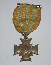 Orig. Sachsen Erinnerungskreuz 1866 am Kämpferband Bronze