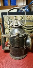 Barn Find Antique Police Lantern Signal lamp Sliding Red/Green Color Glass #2