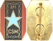 371° Compagnie de Supplétifs Militaires, émail, dos lisse gravé, D.O.Métra