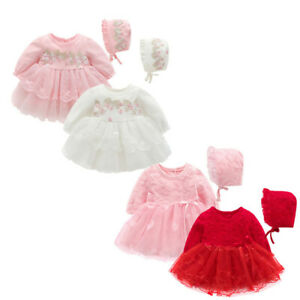 Newborn Infant Baby Kids Girls Party Lace Tutu Princess Dress Clothes Outfits