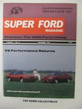 Super Ford Magazine  Sept.1981   1962 Galaxie 483/1982 Ford Lineup    NOS