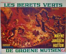 GREEN BERETS Belgian movie poster JOHN WAYNE DAVID JANSSEN FRANK McCARTHY Art