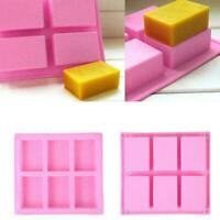 6 Cavity Silicone Rectangle Soap Mould Homemade DIY Making 2020 Cake New T2H2