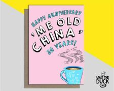 Cute Handmade Greetings Card For 20th Twenty Years China Wedding Anniversary