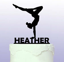 Personalised Gymnastics Cake Topper Gym Gymnast