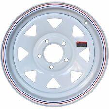 15'' White Spoke Trailer Wheel 5x4.5 Ford Bolt Pattern