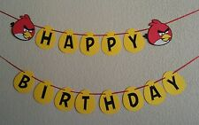 Angry bird happy birthday banner. Great for birthdays. Free shipping USA
