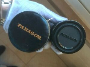 PANAGOR Japan Auto Macro Converter lenses in Black Leather Box covers full Set..