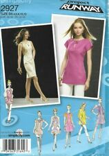 Simplicity Sew Pattern 2927 Project Runway Wide Neckband Dress or Tunic 4-12 New