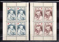 FRANCE blocs de 4 timbres neufs XX provenant du Carnet croix rouge 1965