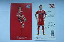 Joshua Kimmich Autogrammkarte FC Bayern München Autogrammkarten Manuel Neuer