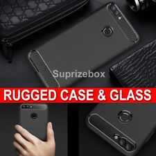 For Huawei P SMART New 360 Shockproof Case Cover & Tempered Glass Protector