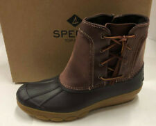 32e34a594e6d Womens Sperry Top Sider Saltwater Wedge Spray Brown Leather Duck BOOTS 12