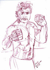 """CUNG LE"" by Ruth Freeman ink sketch 7 3/4"" X  10 1/2"""