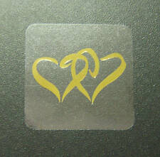 50 PACK TWIN GOLD HEART WEDDING ENGAGEMENT INVITATION ENVELOPE STICKERS SEALS