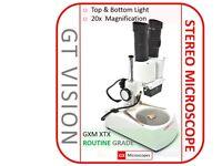 GX Microscopes, 1276 XTX-1C Binocular Stereo Microscope Kit, 20x-120x Mag.