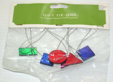 Metallic Geometric Shape Gift Tie Ons Decorations Crafts Deal/3 Packs Of 6