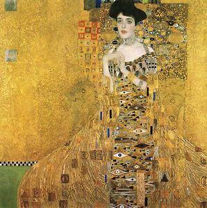 Woman Gold art painting quality canvas klimt  Portrait of Adele
