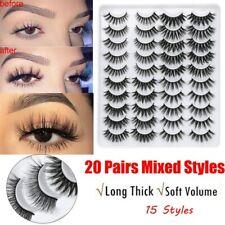 20 pairs Eyelashes 3D Mink False Lashes Natural Dramatic Fake Eyelash Extensions