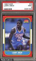 1986 Fleer #25 Larry Drew Sacramento Kings PSA 9 MINT