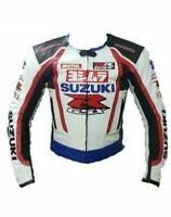 Customized Suzuki Motorbike Motorcycle Biker Racing Leather Sports Jacket