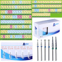 10 Kits Burs Dental Diamond Drills FG BR-31 Round Ball F High Speed Handpiece
