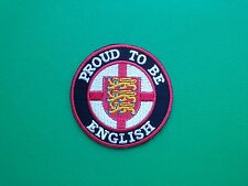 NOVELTY BIKER COUNTRY FLAG SEW ON / IRON ON PATCH:- ENGLAND ENGLISH