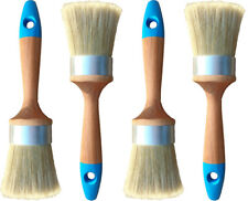 Furniture Paint Brushes 4 Medium Oval/Long Bristles...Our New Design