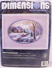 Dimensions Counted Cross Stitch Carl Valente Winter Wonderland 3785 Open Package