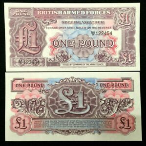 Great Britain / UK British Armed Forces 1 Pound Banknote World Paper Money UNC