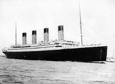 "1912 RMS Titanic Setting Off Photo White Star Line Ship -17""x22"" Art Print-00183"