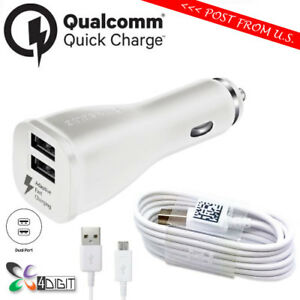 Genuine Original Samsung Galaxy Tab S 8.4 10.5 FAST CHARGE Car Charger+Cable