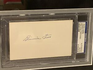 Jimmie Foxx Signed and Framed Cut PSA/DNA COA